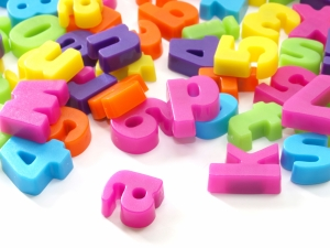 Plastic magnetic play alphabet letters